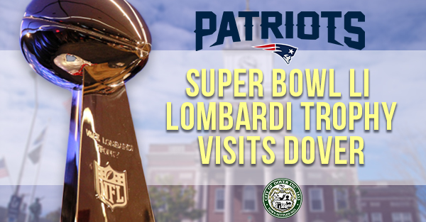 Lombardi Trophy in Dover